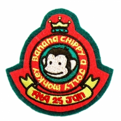 Non-woven fabric embroidery patch