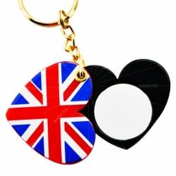 Acrylic UK flag mirror keychain
