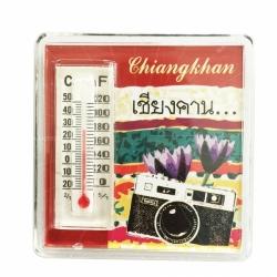 Acrylic thermometer fridge magent