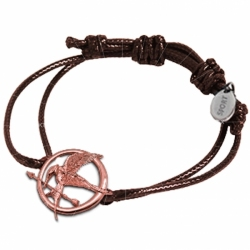 Bracelets with metal charms and waxed cord or elastic string
