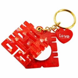 Chinese wedding acrylic mirror keychain