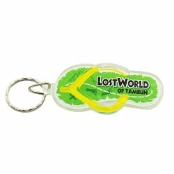 Promotional slipper acrylic keychain
